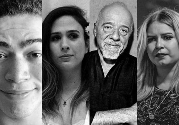 Alguns artistas que entraram na campanha por Manaus - Foto: montagem/redes sociais