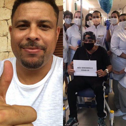 Ronaldo, pai e a equipe do hospital - Fotos: reprodução / Instagram