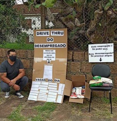 Kaká D'Ávila no Drive-Thru do Desempregado - Foto: arquivo pessoal
