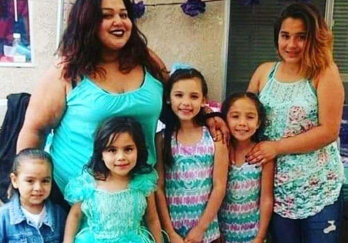 Jasmine e as 5 filhas - Foto: GoFundMe