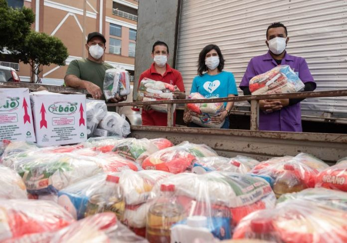 A ação Shopping do Bem pretende arrecadar 10 toneladas de alimentos até junho - Foto: divulgação