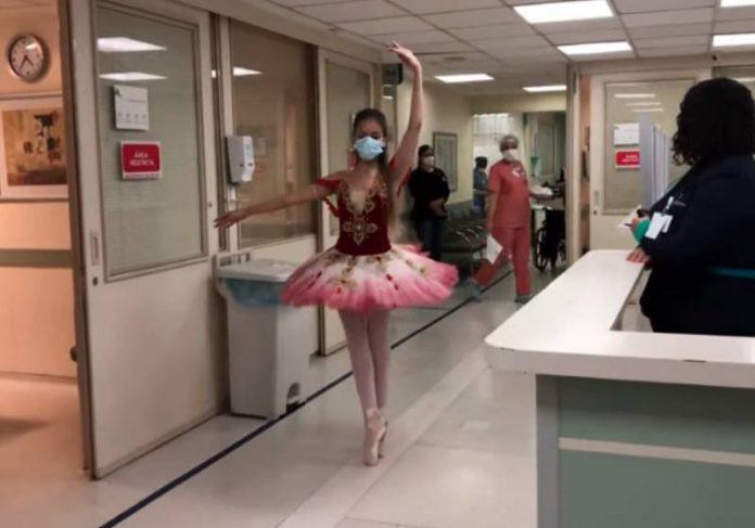 Duda dançando em uma das alas do Hospital de Brasília - Foto: reprodução / Youtube