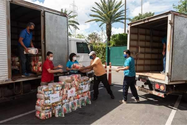 Entrega de alimentos - Foto: divulgação