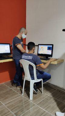 Luiz Henrique estudando no instituto - Foto:  Educ360