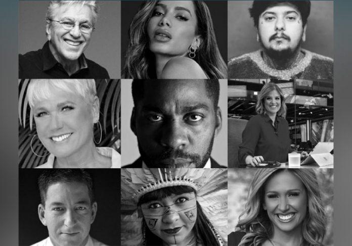 A campanha 'Pare pelo Meio Ambiente' reuniu celebridades brasileiras em apelo pelos nossos biomas - Foto: divulgação