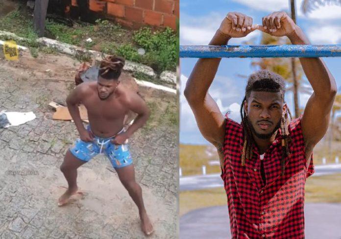 Pierre Santos dançando e posando para foto como modelo - Fotos: arquivo pessoal