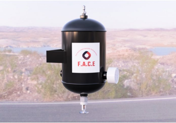 Extintor FACE é disparado automaticamente ao detectar fogo - Foto: divulgação