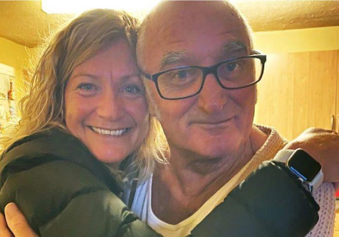Ann e o pai, Leslie - Foto: reprodução ITV
