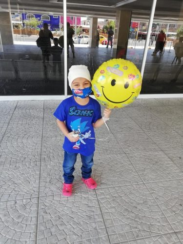 Heber comemorando alta hospitalar - Foto: arquivo pessoal
