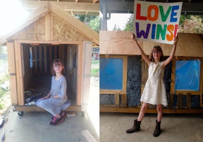Menina de 9 anos quer entregar 12 casas móveis ainda este ano. - Foto: reprodução Facebook Hailey's Harvest