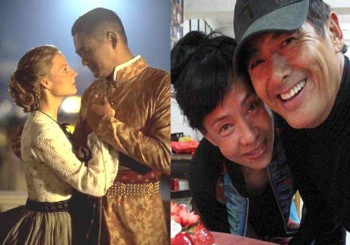 Chow com Jodie Foster em Ana e o Rei e com a esposa Jasmine Tan Foto: reprodução