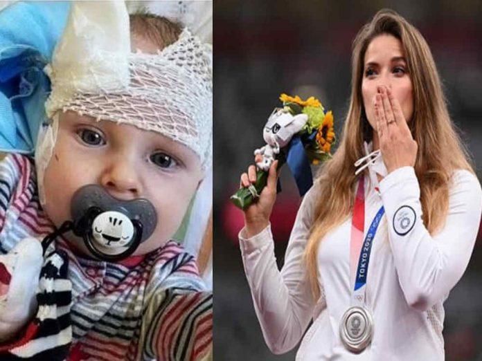 A atleta olímpica do arremesso de dardos resolveu doar a medalha de prata Foto: reprodução Facebook