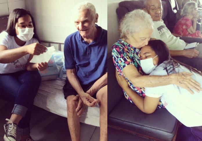 As cartinhas são levadas por voluntários para idosos em asilo - Foto: reprodução Instagram