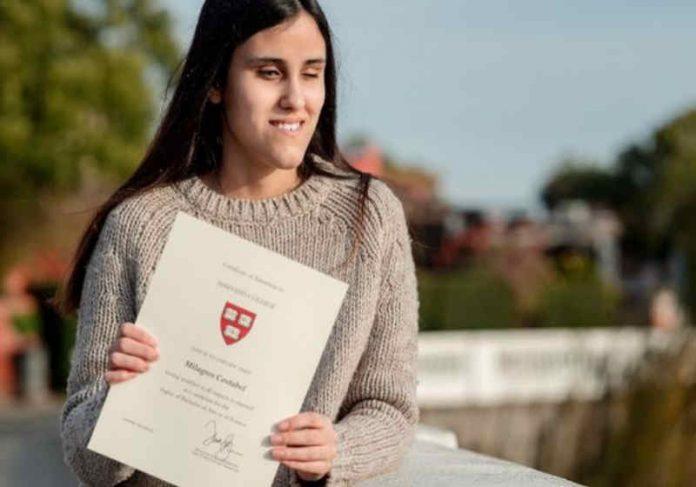 Milagros Costabel, de 21 anos vai estudar ciências políticas em Harvard Foto: Arquivo Pessoal