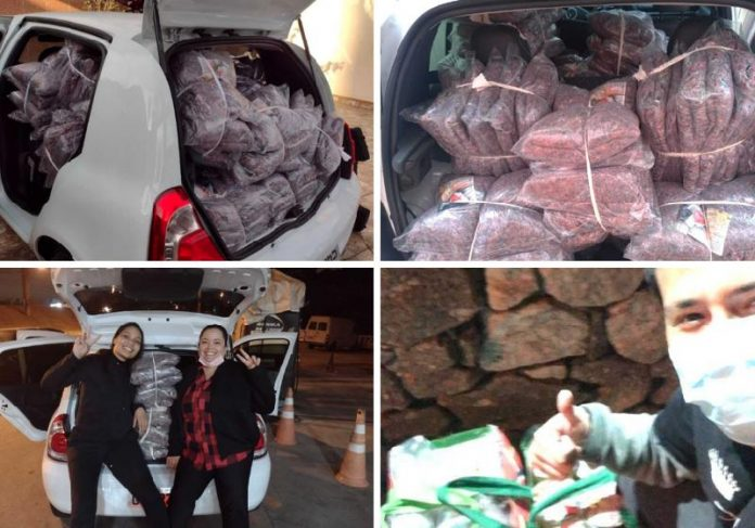 Funcionários do Grupo Comunique-se se uniram para doar mantas às pessoas em situação de rua em SP - Fotos: divulgação