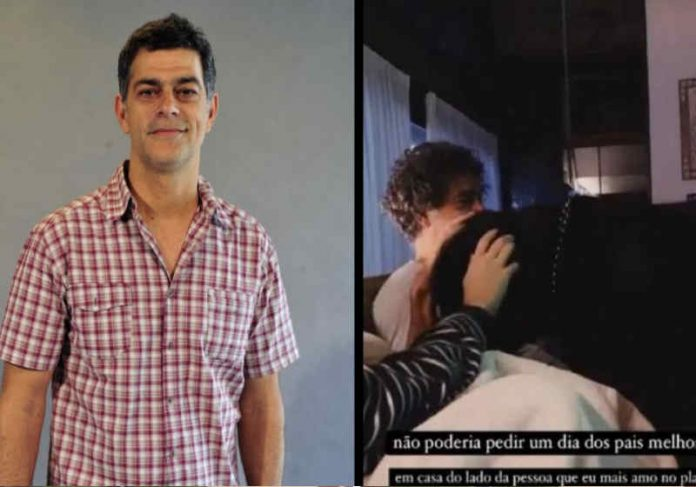 O ator recebeu alta e agradeceu por passar o dia dos pais com os filhos Foto: reprodução Diário do Nordeste