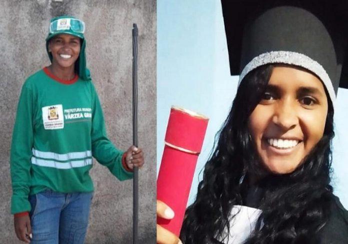 A gari Kelly Cristina andava 10 km todos os dias e hoje comemora a formatura em Direito - Fotos: arquivo pessoal
