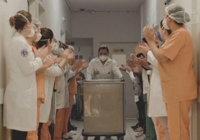 Hospital faz vídeo mostrando ala de tratamento da Covid-19 sendo fechada e vídeo viraliza - Foto: reprodução GSF