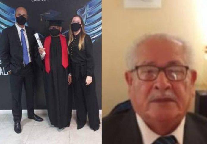 O motorista Benedito Chagas se formou em Direito com apoio e incentivo da família - Fotos: arquivo pessoal / divulgação