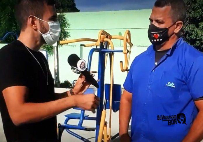 Marcos Luvinha foi destaque na TV Jangadeiro, onde falou da vaquinha para a academia popular - Foto: Tv Jangadeiro