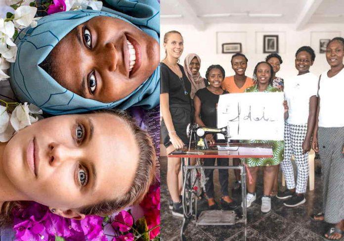 A modelo de sucesso na Polônia quer que as mulheres aprendam para ensinar outras mulheres Foto: Maja Kotala / Costurando Juntos