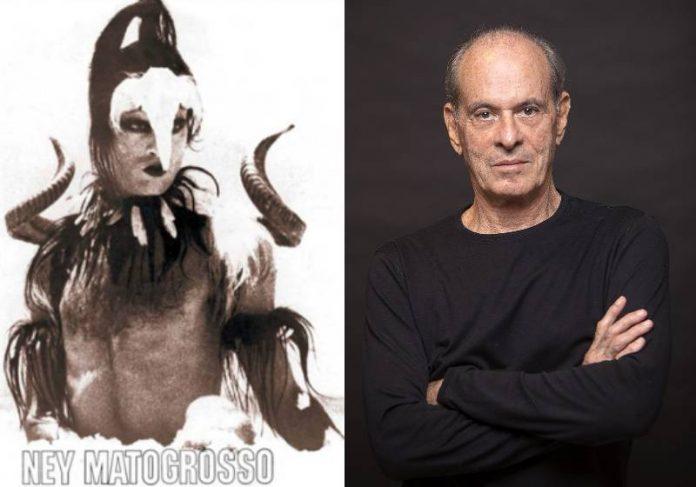 Ney Matogrosso no disco Água do Céu - Pássaro, em 1975 e agora aos 80 anos - Fotos: divulgação e Leo Aversa