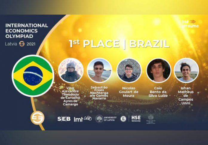 Estudantes brasileiros levam país ao tricampeonato na Olimpíada Internacional de Economia - Foto: divulgação