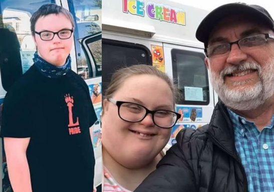 Pai compra carro de sorvete para incentivar filhos com síndrome de Down - Foto: reprodução Facebook