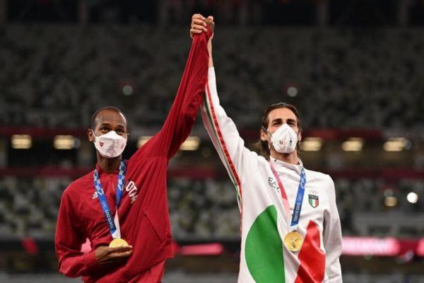 Gianmarco e Mutaz - Foto: Ina Fassbender/ AFP