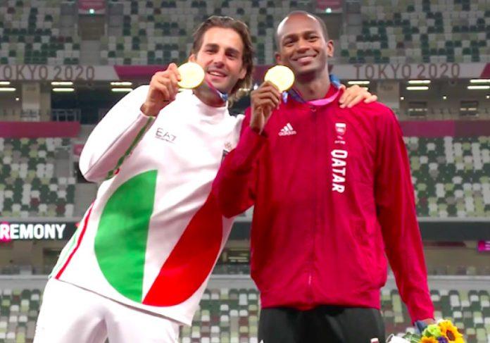 Gianmarco e Mutaz dividiram o póidio e uma linda história de amizade - Foto: reprodução