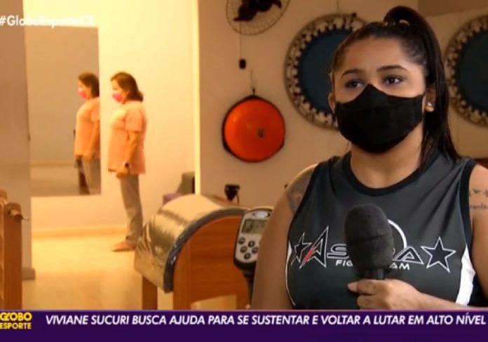 Vaquinha para ajudar Vivi Sucuri foi destaque no Globo Esporte Ceará - Foto: reprodução TV Verdes Mares