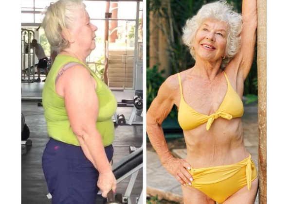 Joan tinha uma vida sedentária e pesava 90 quilos e hoje é outra pessoa Foto: Instagram