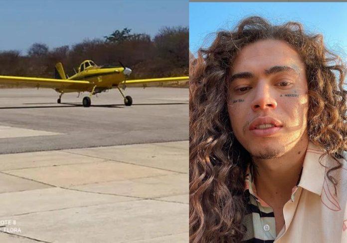 Avião enviado por Whindersson Nunes para combater incêndios no Piauí - Fotos: ICMBio e Reprodução / Instagram