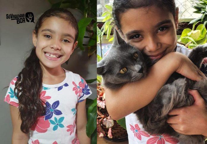 Laís é uma menina que sonha em ser veterinária, mas está com os estudos comprometidos porque tem catarata infantil - Foto: arquivo digital