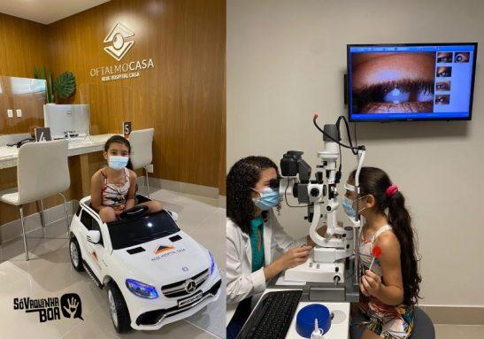Após arrecadação do Só Vaquinha Boa, Laís inicia tratamento para catarata - Foto: Oftalmocasa