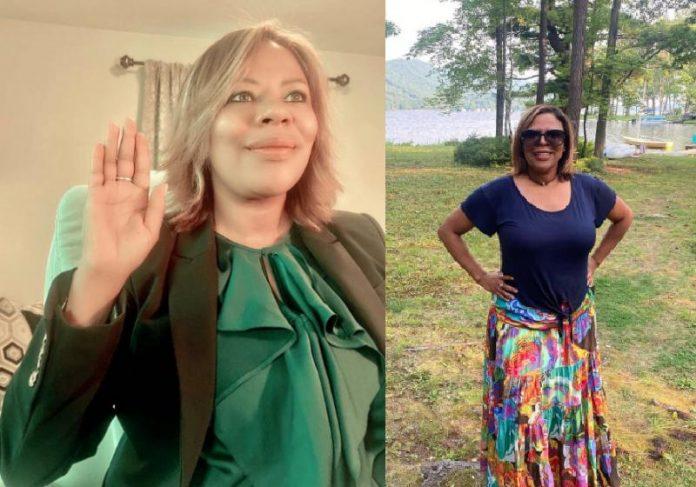 A ex-domestica brasileira Natalicia Tracy faz o juramento ao assumir cargo no governo Biden - Fotos: reprodução / Instagram