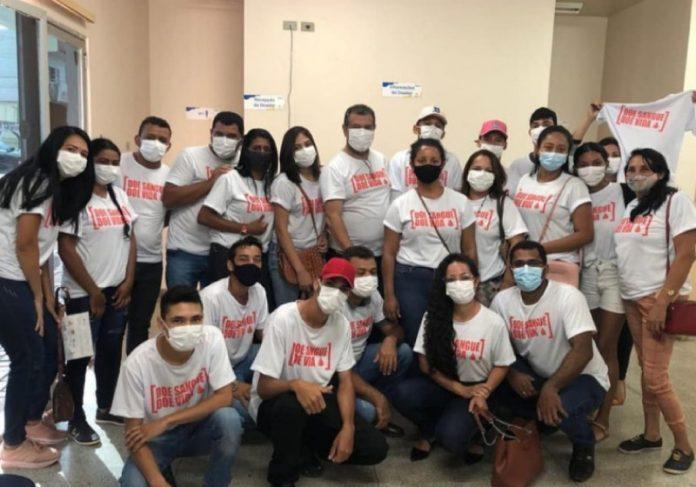 Moradores e servidores da prefeitura participam do Projeto de Doação de Sangue - Foto: Divulgação