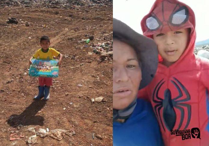 Caique quer muito fazer uma festa do Dia das Crianças para os amigos do lixão - Foto: Cristina Silva
