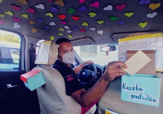 Motorista incentiva passageiros com mensagens positivas - Foto: reprodução @vh_mensagensdobem