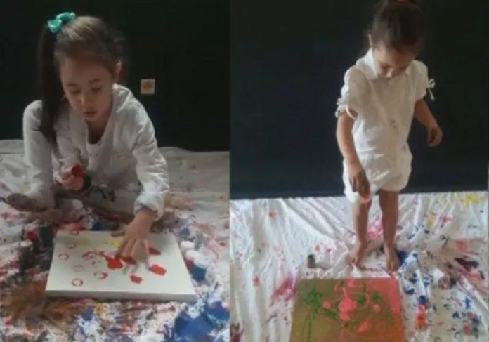 Pintora brasileira de apenas 4 anos é convidada para expor no Louvre - Foto: Reprodução/TV TEM