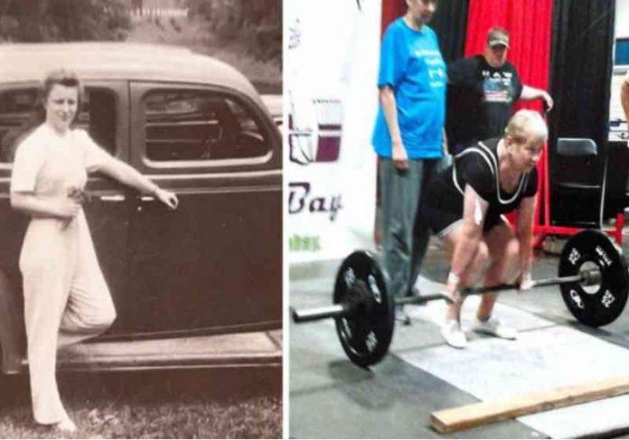 Edith, que hoje tem 100 anos começou no esporte há 9 e já é recordista Foto: Guinness Book