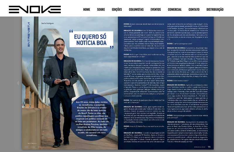 Foto: reprodução / Revista Evoke