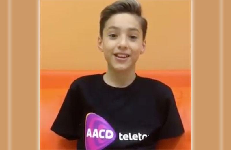 Samuel, 10 anos - Foto: Teleton