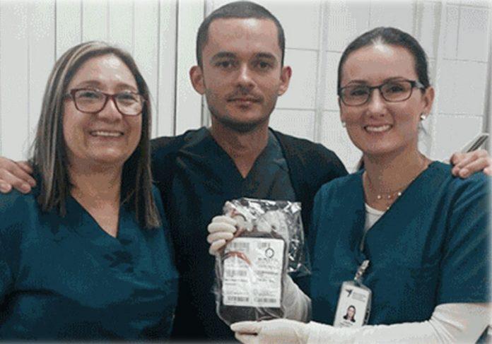 Bolsa de sangue colhido - Foto: divulgação / Governo CE