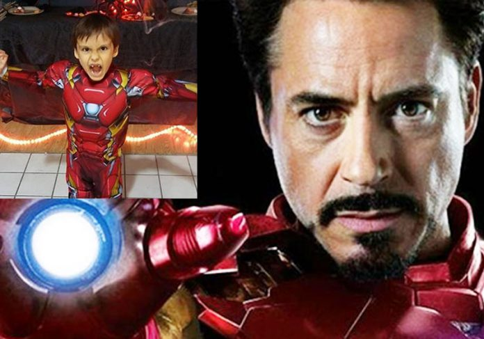Homem de Ferro de Lucas - Foto: reprodução / redes sociais||