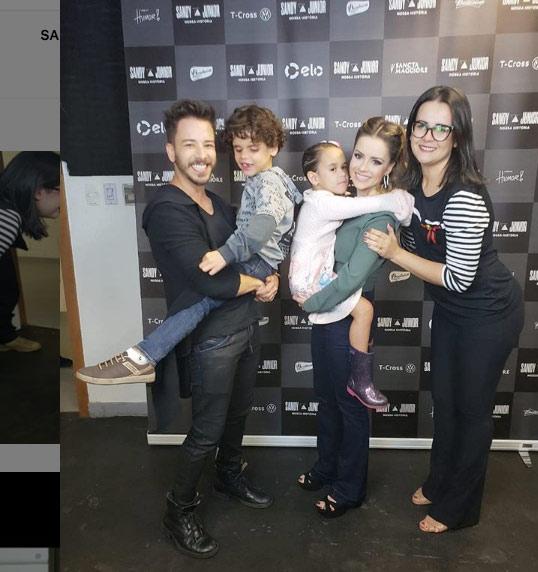 Daniel e Júlia com Sandy e Júnior - Foto: reprodução / Instagram
