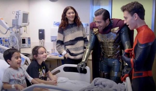 Tom Holland, Zendaya, e Jake Gyllenhaal
