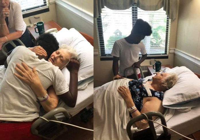Romemylion Mitchell visita Cianne no hospital - Fotos: reprodução / Facebook Tiki Joyner 