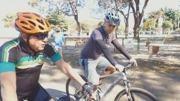 Marcos Labossiere pedalando - Foto: reprodução / TV Globo