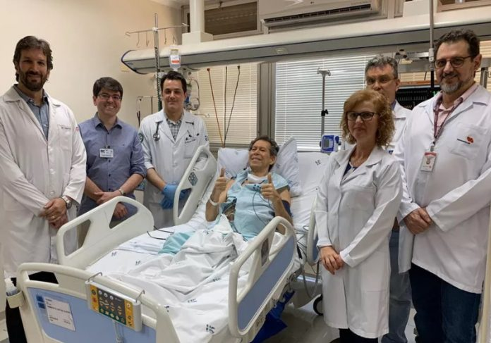Equipe médica de Vamberto no HC de Ribeirão Preto — Foto: Divulgação/HCFMRP|Vamberto